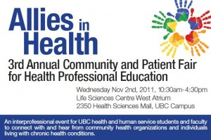 Allies in Health: 3rd Annual Community and Patient Fair for Health Professional Education