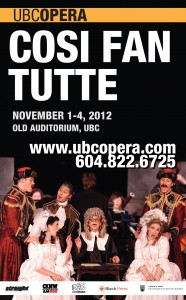UBC Opera presents Mozart's Cosi fan tutte