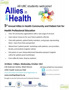 5th Annual Allies in Health Community and Patient Fair