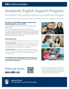 The UBC Academic English Support Program